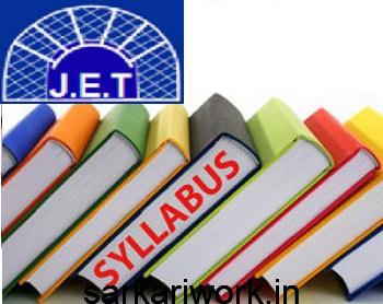 JET Exam syllabus ,JET Assistant Engineer Exam Syllabus