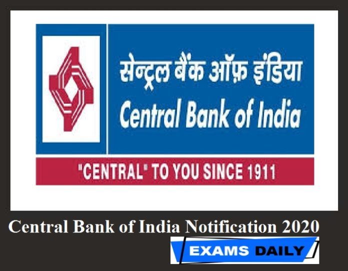 Central Bank of India Notification 2020 Out – Apply for Cent- FLCC Counselor Vacancies Here!!!